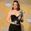 Tina Fey attends the 19th Annual Screen Actors Guild Awards Press Room at The Shrine Auditorium on January 27, 2013 in Los Angeles, California. (Photo by Getty Images) 