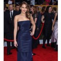 Jennifer Lawrence arrives at the 19th Annual Screen Actors Guild Awards held at The Shrine Auditorium on January 27, 2013 in Los Angeles, California. (Photo Getty Images)