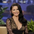 Catherine Zeta-Jones seen during an interview on &#8216;The Tonight Show&#8217; on January 28, 2013