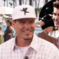 Vanilla Ice stops by Access Hollywood Live on January 29, 2013 / inset: Justin Bieber