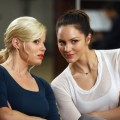 Megan Hilty as Ivy Lynn, Katharine McPhee as Karen Cartwright in &#8216;Smash,&#8217; Episode 203, &#8216;The Dramaturg&#8217;