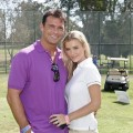 Romain Zago and Supermodel Joanna Krupa attend the Los Angeles Police Celebrity Golf Tournament at Rancho Park Golf Course on October 13, 2012 in West Los Angeles, California.