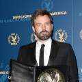 Ben Affleck poses with his award in the press room during the 65th Annual Directors Guild Of America Awards at Ray Dolby Ballroom at Hollywood &amp; Highland in Los Angeles on February 2, 2013 (Getty Images) 