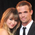 Dominique Geisendorff and actor Cam Gigandet arrive at the Los Angeles Premiere 'Burlesque' at Grauman's Chinese Theatre on November 15, 2010 in Hollywood