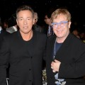 Bruce Springsteen and Elton John spotted at MusiCares Person Of The Year Honoring Bruce Springsteen at Los Angeles Convention Center on February 8, 2013