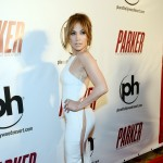 Jennifer Lopez shows off her famous assets at the premiere of Film District's 'Parker' at Planet Hollywood Resort & Casino in Las Vegas on January 24, 2013