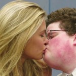 Bar Rafaeli and actor Jesse Heiman in a GoDaddy Super Bowl commercial