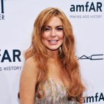 Lindsay Lohan seen at the amfAR New York Gala to kick off Fall 2013 Fashion Week at Cipriani Wall Street in New York City on February 6, 2013