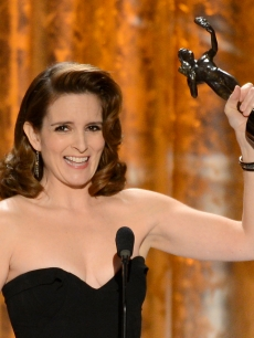 Tina Fey accepts the award for Outstanding Performance by a Female Actor in a Comedy Series for &#8216;30 Rock&#8217; onstage during the 19th Annual Screen Actors Guild Awards held at The Shrine Auditorium on January 27, 2013