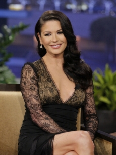 Catherine Zeta-Jones seen during an interview on 'The Tonight Show' on January 28, 2013