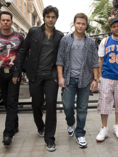 Kevin Dillon, Adrian Grenier, Kevin Connolly and Jerry Ferrara in &#8220;Entourage&#8221;