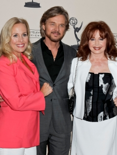 Genie Francis, Stephen Nichols and Suzanne Rogers attend the 39th annual daytime Emmy Awards nominees reception at SLS Hotel on June 14, 2012