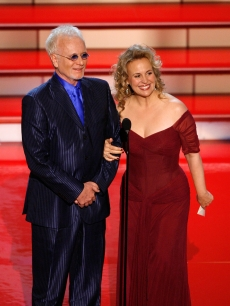 Anthony Geary and Genie Francis present the Emmy for 'Outstanding Lead Actress in a Drama Series' onstage during the 34th Annual Daytime Emmy Awards held at the Kodak Theatre, Hollywood, on June 15, 2007