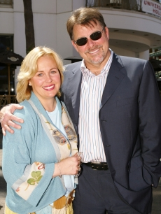 Genie Francis and Jonathan Frakes on the 'Thunderbirds' red carpet, July 24, 2004