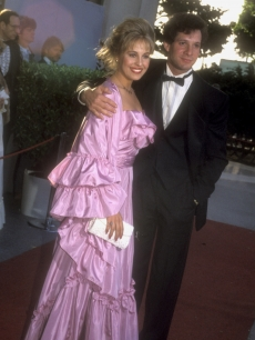 Genie Francis and Steve Gutenberg at the 55th annual Academy Awards, April 11, 1983