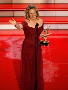 Genie Francis accepts the Emmy for 'Outstanding Supporting Actress in a Drama Series' for 'General Hospital' onstage during the 34th Annual Daytime Emmy Awards held at the Kodak Theatre on June 15, 2007