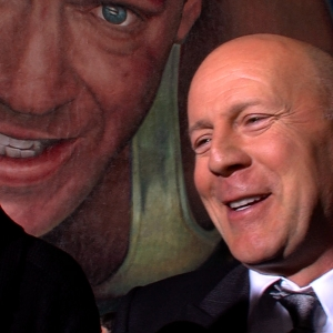 Bruce Willis Hits Red Carpet To Celebrate A Good Day To Die Hard