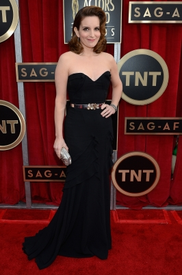 Tina Fey arrives at the 19th Annual Screen Actors Guild Awards held at The Shrine Auditorium on January 27, 2013 in Los Angeles (Photo by Getty Images) 