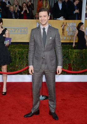 Justin Timberlake arrives at the 19th Annual Screen Actors Guild Awards held at The Shrine Auditorium on January 27, 2013 in Los Angeles, California. (Photo WireImage)