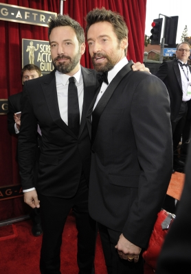 Ben Affleck and Hugh Jackman attends the 19th Annual Screen Actors Guild Awards at The Shrine Auditorium on January 27, 2013 in Los Angeles, California. (Photo by WireImage)