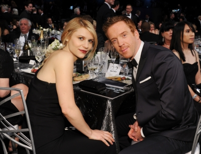 Claire Danes and Damian Lewis attend the 19th Annual Screen Actors Guild Awards at The Shrine Auditorium on January 27, 2013 (Photo by Getty Images)