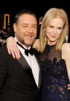 Russell Crowe and Nicole Kidman at the 19th Annual Screen Actors Guild Awards at The Shrine Auditorium on January 27, 2013 in Los Angeles, California. (Photo by WireImage)