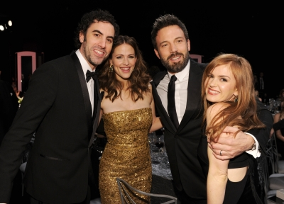 Sasha Baron Cohen, Jennifer Garner, Ben Affleck, and Isla Fisher are spotted at the 19th Annual Screen Actors Guild Awards at The Shrine Auditorium on January 27, 2013 (Photo by Getty Images) 