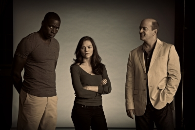 From left to right: Demetrius Grosse, Trieste Kelly Dunn, Matt Servitto from Cinemax's 'Banshee,' Photo Courtesy of Gregory Shummon