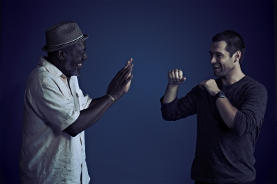 From left to right: Frankie Faison and Antony Starr from Cinemax's 'Banshee,' Photo Courtesy of Gregory Shummon