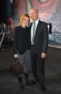 Rumer Willis joins dad Bruce Willis for a special event celebrating 25 years of &#8216;Die Hard&#8217; at Fox Studio Lot on January 31, 2013 in Century City, Calif.