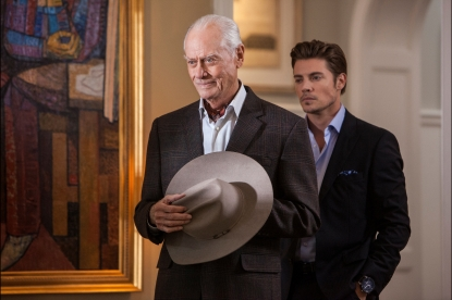 Larry Hagman and Josh Henderson in &#8216;Dallas&#8217;