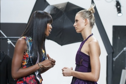 Naomi Campbell and Karolina Kurkova on Oxygen's 'The Face'