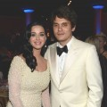 Katy Perry and John Mayer are seen at the 55th Annual GRAMMY Awards Pre-GRAMMY Gala and Salute to Industry Icons honoring L.A. Reid held at The Beverly Hilton on February 9, 2013 in Los Angeles