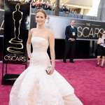 Jennifer Lawrence arrives at the Oscars on February 24, 2013 in Hollywood, Calif.