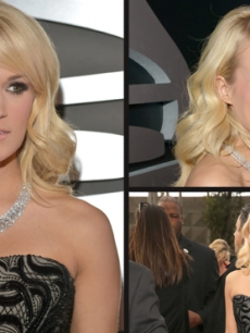Carrie Underwood attends the 55th Annual Grammy Awards at Staples Center, Los Angeles, on February 10, 2013