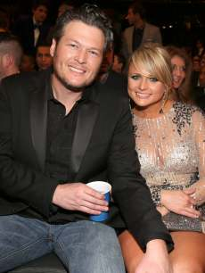 Blake Shelton and Miranda Lambert spotted at the 55th Annual Grammy Awards at Staples Center on February 10, 2013