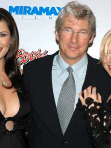 Catherine Zeta-Jones, Richard Gere &amp; Renee Zellweger seen in 2002