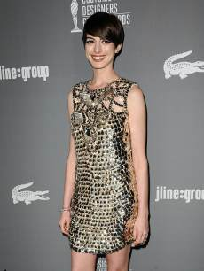 Anne Hathaway attends the 15th annual Costume Designers Guild Awards at The Beverly Hilton Hotel on February 19, 2013 in Beverly Hills, Calif.