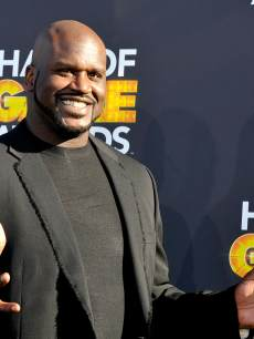 Shaquille O'Neal attends the Third Annual Hall of Game Awards hosted by Cartoon Network at Barker Hangar on February 9, 2013 in Santa Monica, Calif.