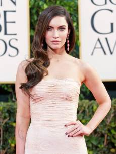 Megan Fox arrives at the 70th Annual Golden Globe Awards held at The Beverly Hilton Hotel on January 13, 2013 in Beverly Hills, Calif.