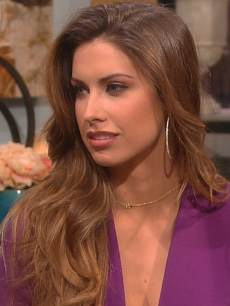 Katherine Webb visits Access Hollywood Live on February 22, 2013