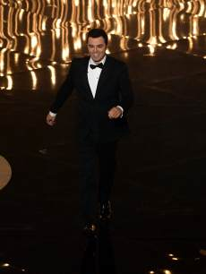 Host Seth MacFarlane speaks onstage during the Oscars held at the Dolby Theatre in Hollywood on February 24, 2013