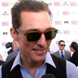 Matthew McConaughey Talks Double Nomination At The 2013 Independent Spirit Awards