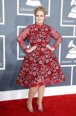 Adele attends the 55th Annual GRAMMY Awards at STAPLES Center on February 10, 2013 in Los Angeles