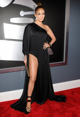 Jennifer Lopez shows off some leg at the 55th Annual GRAMMY Awards at STAPLES Center on February 10, 2013 in Los Angeles