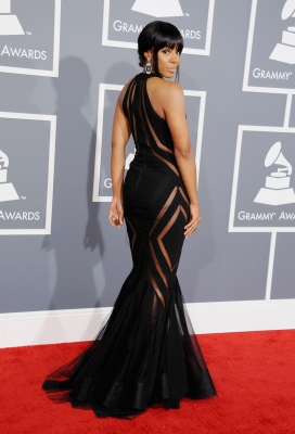 Kelly Rowland attends the 55th Annual GRAMMY Awards at STAPLES Center on February 10, 2013 in Los Angeles
