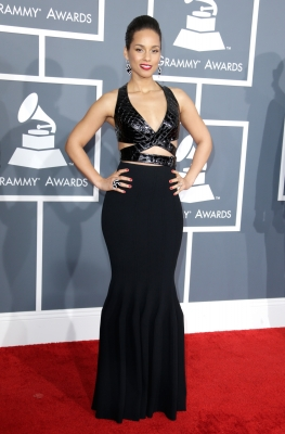 Alicia Keys attends the 55th Annual GRAMMY Awards at STAPLES Center on February 10, 2013 in Los Angeles