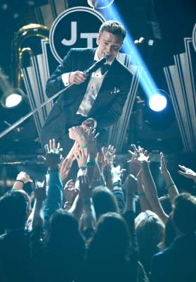 Justin Timberlake performs onstage at the 55th Annual Grammy Awards at Staples Center on February 10, 2013