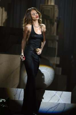 Rihanna performs onstage at the 55th Annual Grammy Awards at Staples Center on February 10, 2013