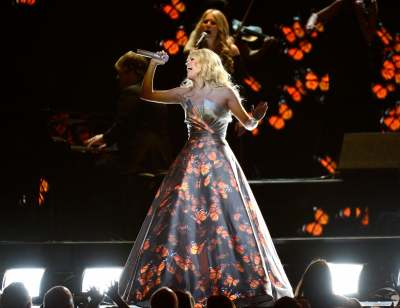 Carrie Underwood performs onstage at the 55th Annual Grammy Awards at Staples Center in Los Angeles on February 10, 2013